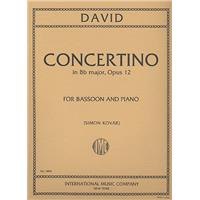 DAVID, FERDINAND - Concertino B-dur op.12 - for Bassoon and Orchestra - for Basson and Piano - nuty na fagot i fortepian - Friedrich Hofmeister Musikverlag - FH2170